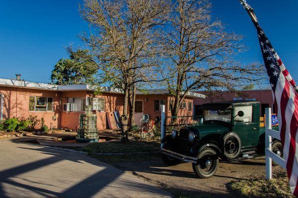 Cour du Blue Swallow Motel Tucumcari Route 66 Nouveau-Mexique