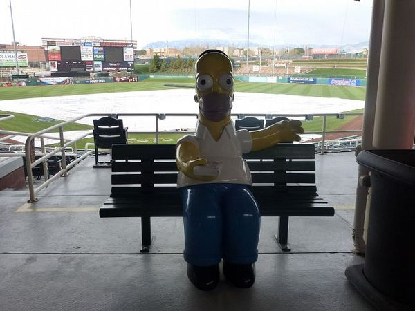 Homer Simpson Isotopes Park Albuquerque Nouveau-Mexique