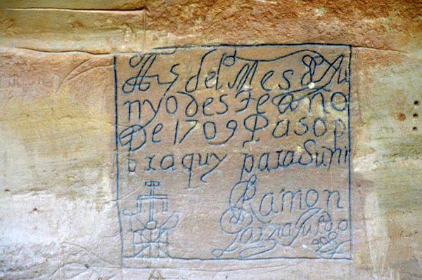 Inscription Trail El Morro NM Nouveau-Mexique