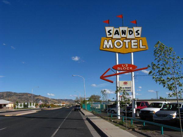 Enseigne Sands Motel Grants Nouveau-Mexique