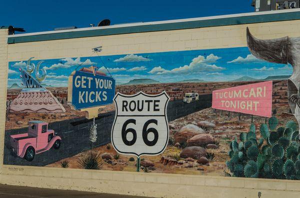 Mural Tucumcari Route 66 Nouveau-Mexique