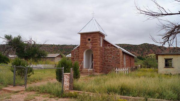 Église Cuervo Route 66 Nouveau-Mexique