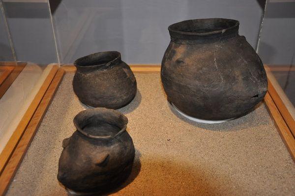Artefacts Pueblo au Visitor Center Pecos National Historic Park Route 66 Nouveau-Mexique
