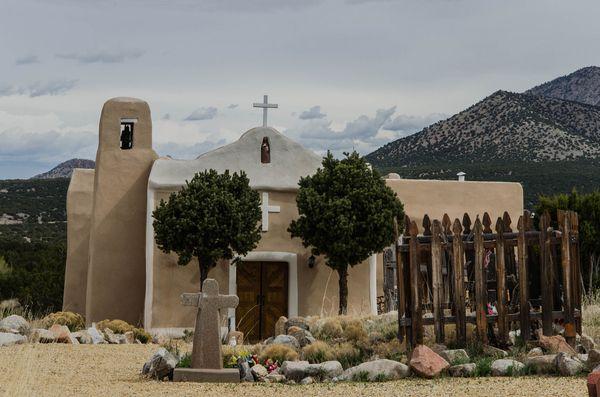 Église Golden Turquoise Trail Nouveau-Mexique