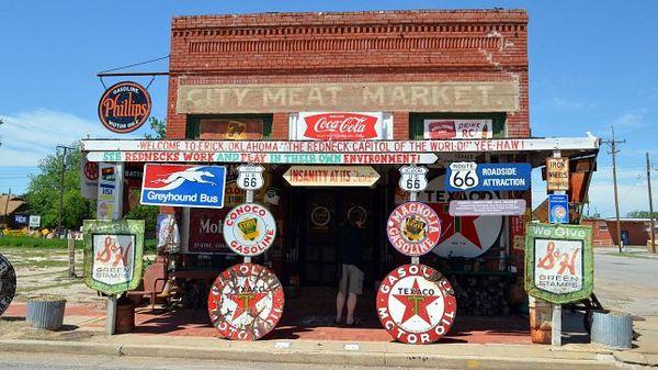The redneck capitol of the world. Yee-haw ! Erick Oklahoma