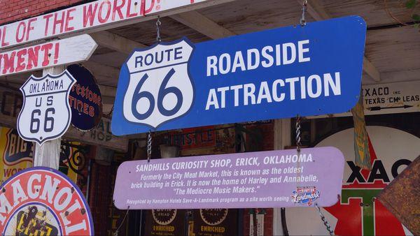 Boutique souvenirs Erick Oklahoma Route 66