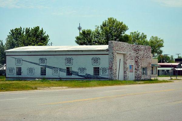 Le Route 66 Have All Mall avant fermeture en 2014 Chelsea Oklahoma