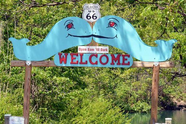 Entrée du parc Blue Whale Catoosa Oklahoma Route 66