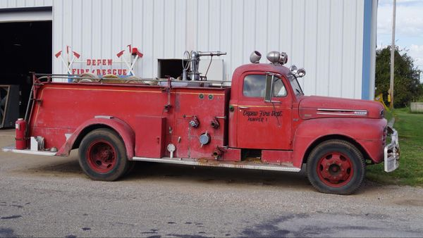 Camion de pompier vintage à Depew Route 66 Oklahoma