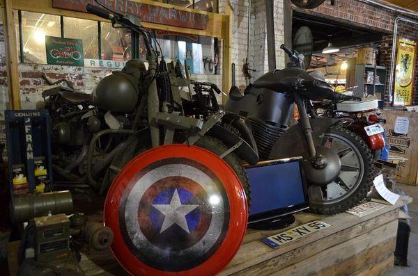 La moto de Captain America Seaba Station Warwick Route 66 Oklahoma