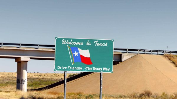 Panneau Welcome to Texas Route 66