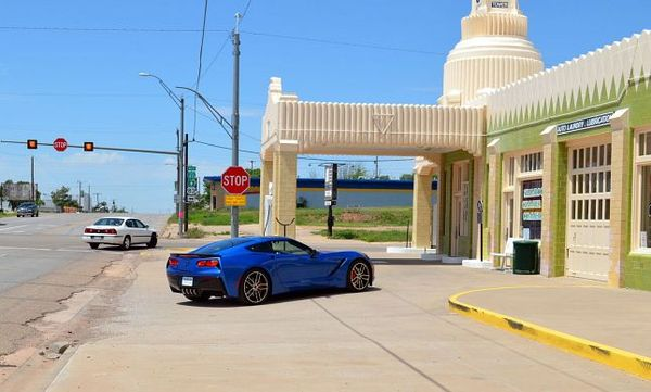 Tower Station & U-Drop Inn Café & Motel Shamrock Route 66 Texas