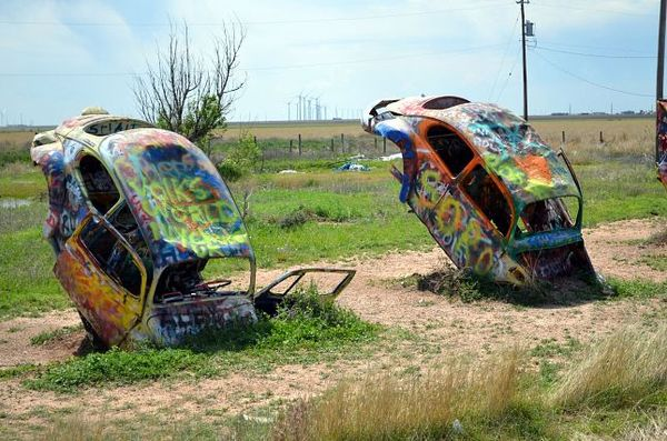 VW Slug Bug Ranch Route 66 Texas