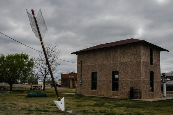 Ancienne station service Magnolia Vega Route 66 Texas