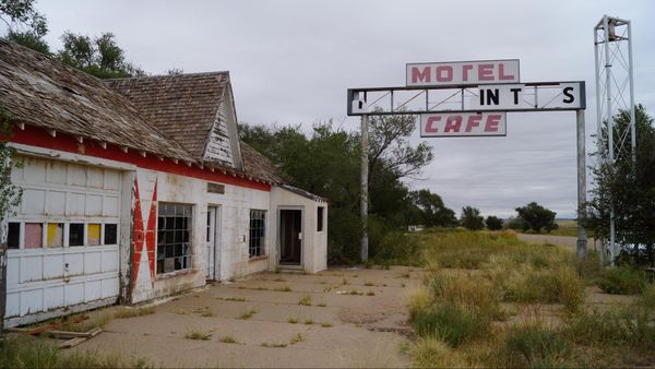 First-Last Motel in Texas Glenrio Route 66 Texas