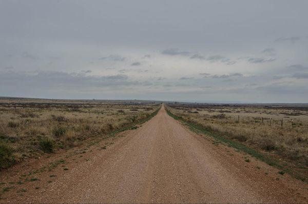 Ancienne portion de la Route 66, non revêtue Glenrio Texas