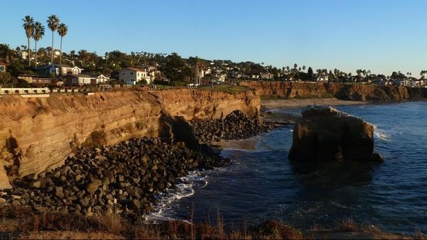 Sunset Cliffs au crépuscule Point Loma San Diego
