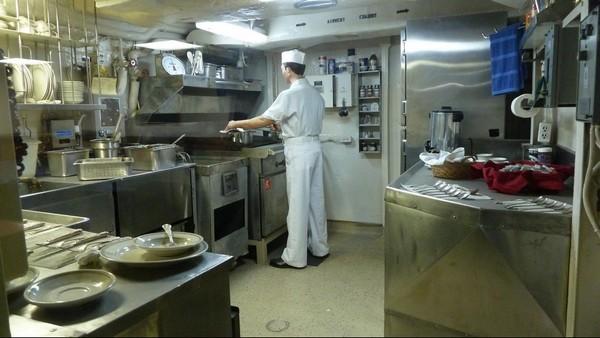 Intérieur de l'USS Midway cuisines San Diego