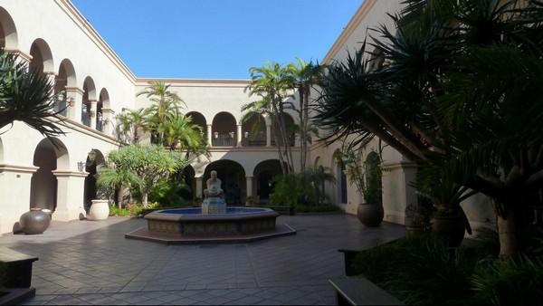 Patio de la Casa Del Prado Balboa Park San Diego