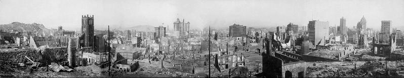 San Francisco, après le tremblement de terre de 1906