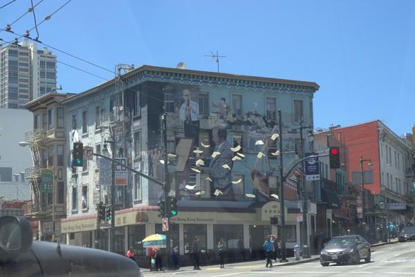 Mural signé Bill Weber San Francisco