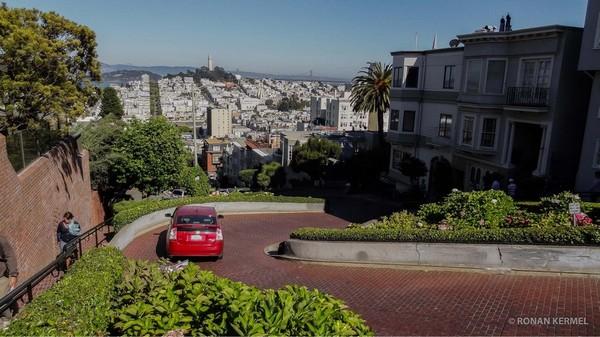 Lombard Street depuis Hyde Street San Francisco