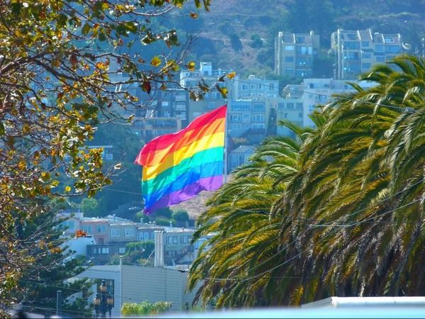 Bannière arc-en-ciel Castro San Francisco