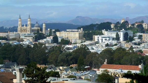 Vue depuis le Buena Vista Park San Francisco