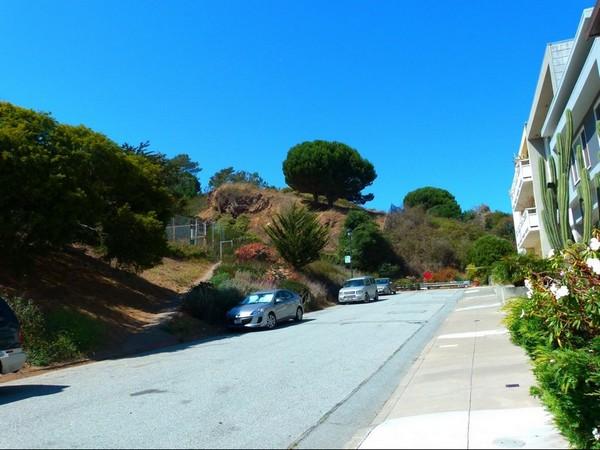 Accès Corona Heights Park sur Flint Street San Francisco