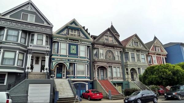 Élégantes maisons victoriennes San Francisco