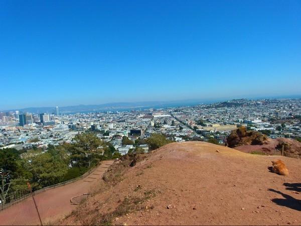 Vue depuis Corona Heights Park San Francisco