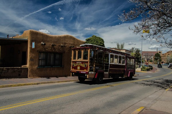 Navette trolley Santa Fe Nouveau-Mexique