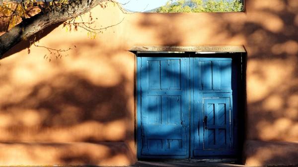 Porte des jardins du Palais Palace of the Governors Santa Fe Nouveau-Mexique