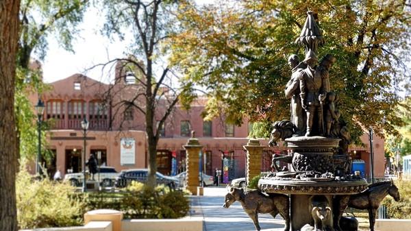 Bronze premiers colons Santa Fe Nouveau-Mexique