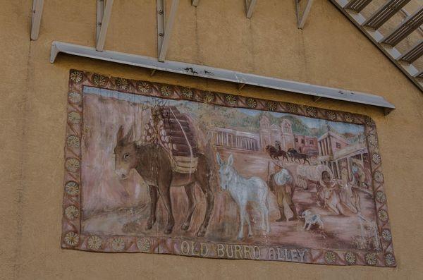 Mural Burro Alley Santa Fe Nouveau-Mexique