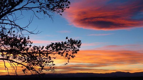 Sunset Historic Fort Marcy Park Santa Fe Nouveau-Mexique