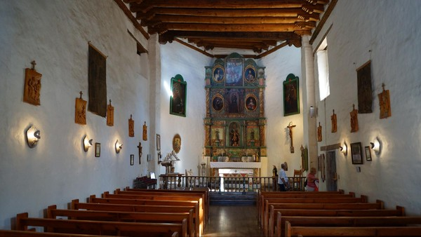 Intérieur San Miguel Chapel Santa Fe Nouveau-Mexique