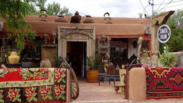 Galerie sur Canyon Road Santa Fe Nouveau-Mexique
