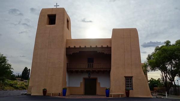 Cristo Rey Catholic Church sur Canyon Road Santa Fe Nouveau-Mexique