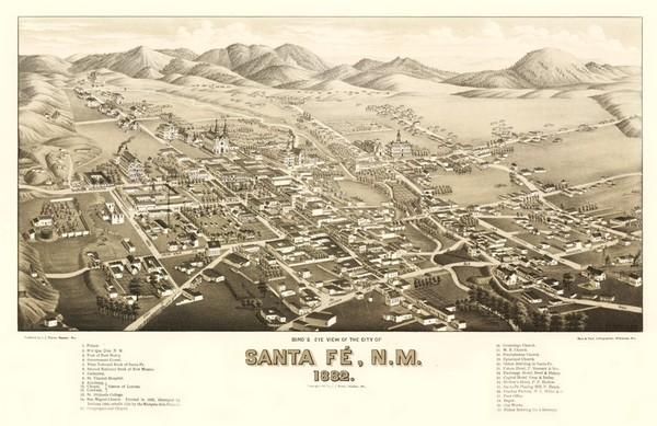 Santa Fe en 1882