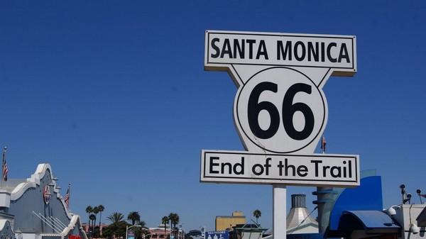 Route 66 panneau fin de parcours Santa Monica