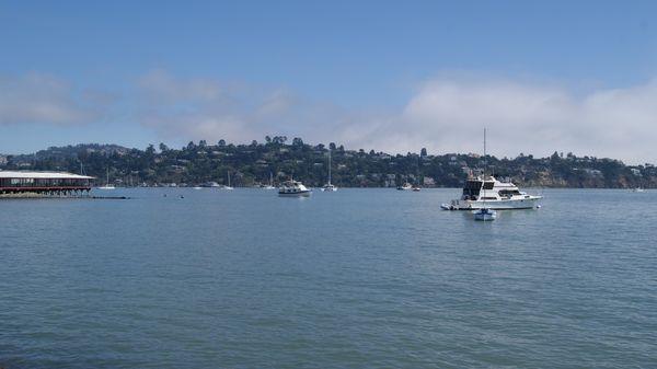 Vue sur la baie de San Francisco de Bridgeway Sausalito