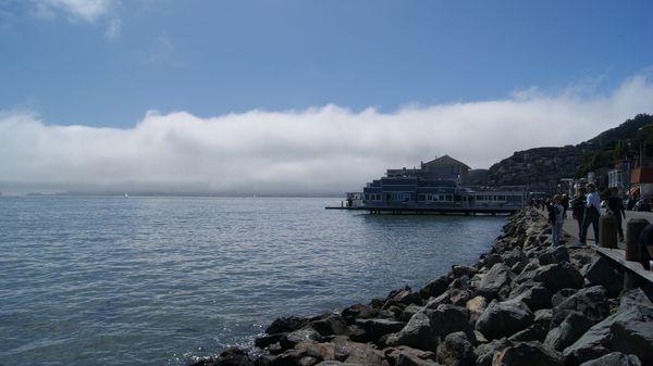 Vue sur la baie de San Francisco depuis Bridgeway Sausalito
