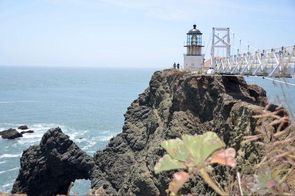 Point Bonita Lighthouse et sa passerelle Sausalito