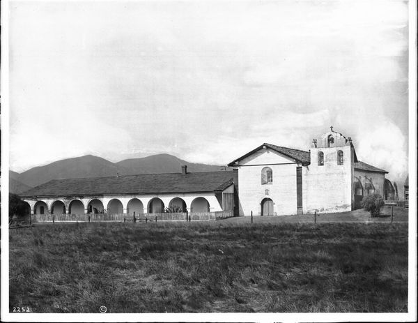 General view from the front of Mission Santa Inez, 1904