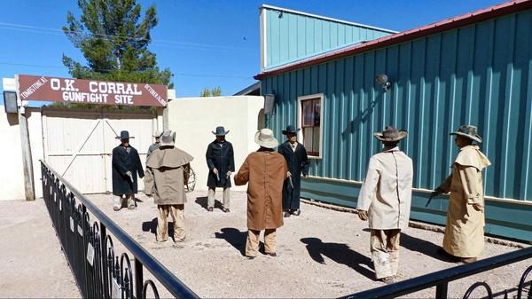 Site historique où eut lieu la fusillade de O.K. Corral le 26 octobre 1881 à Tombstone en Arizona