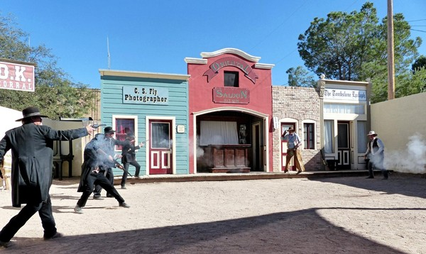 Gunfight reenactment OK Corral Tombstone Arizona