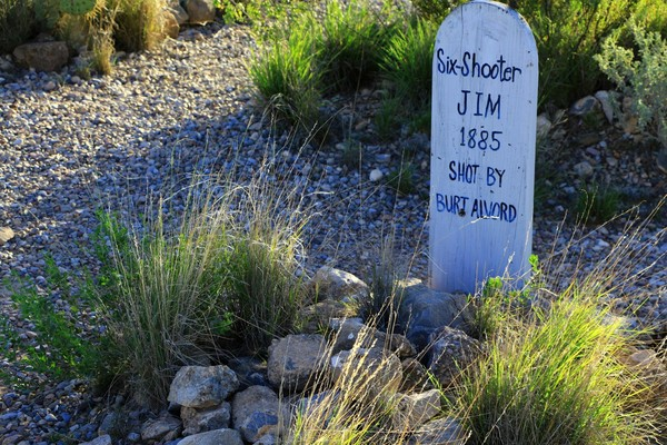 Tombe Cimetière de Tombstone en Arizona
