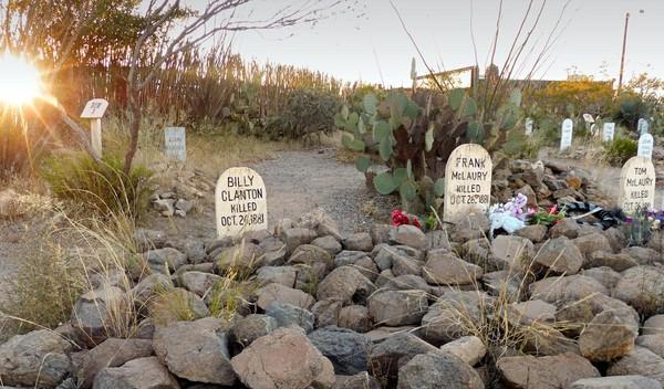 Tombes des frères Clanton cimetière de Tombstone Arizona