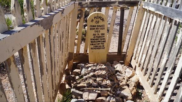 Tombe de Frank Bowles, cimetière de Timbstone Arizona